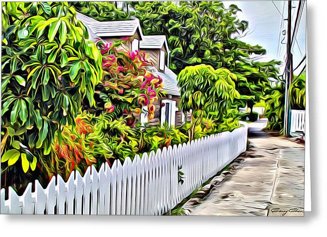 Hopetown Alley  Greeting Card by Anthony C Chen