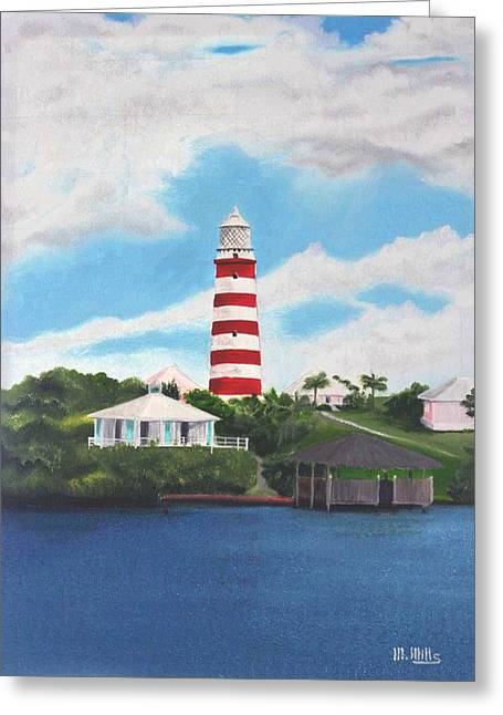 Hopetown Lighthouse Number Two Greeting Card