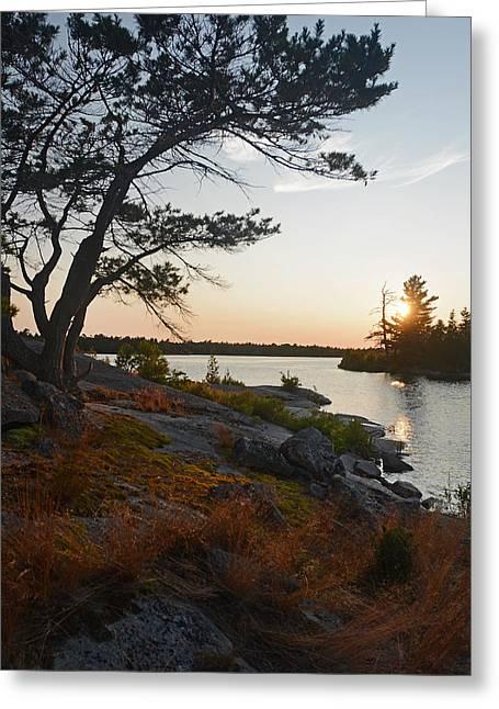 Hopewell Bay Island Wild Grass Sunset-1 Greeting Card