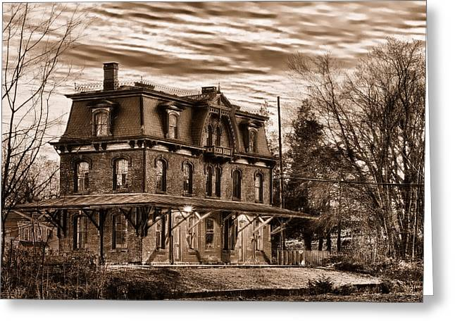 Hopewell Station Greeting Card by Mark Fuller