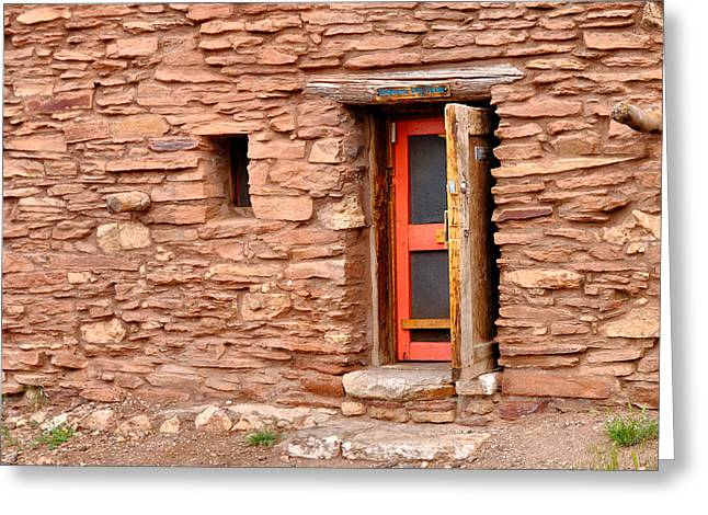 Hopi House Door Greeting Card by Julie Niemela