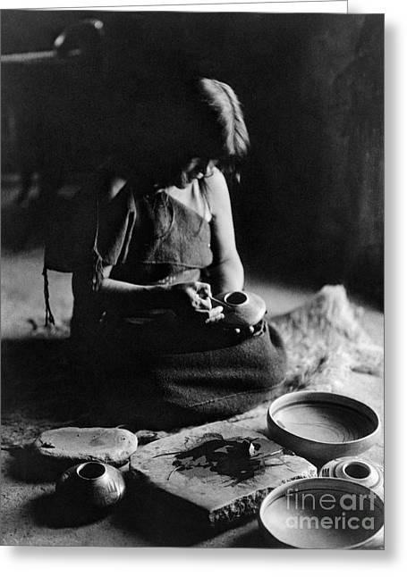 Hopi Potter, C1906 Greeting Card