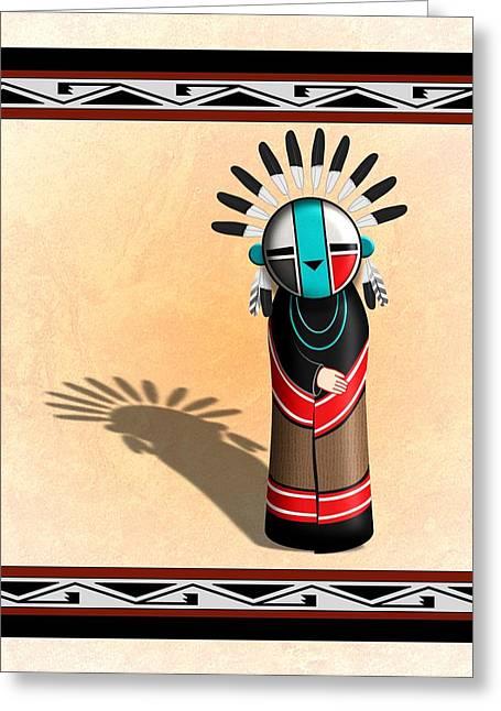 Hopi Sun Face Kachina Greeting Card