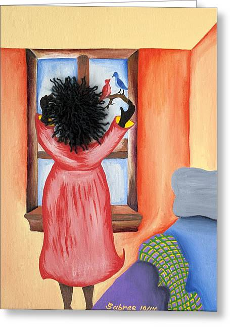 Hoping Greeting Card by Patricia Sabree