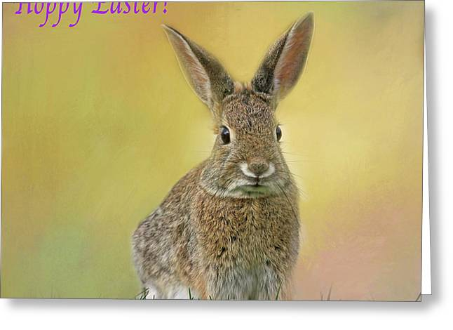 Greeting Card featuring the photograph Hoppy Easter  by Donna Kennedy