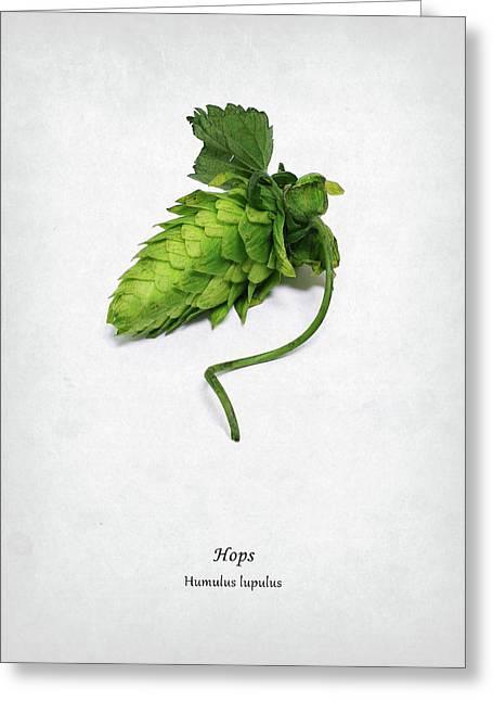 Hops Greeting Card by Mark Rogan