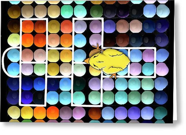 Hopscotch Charlie - Chick Hatchery Pop Art Greeting Card