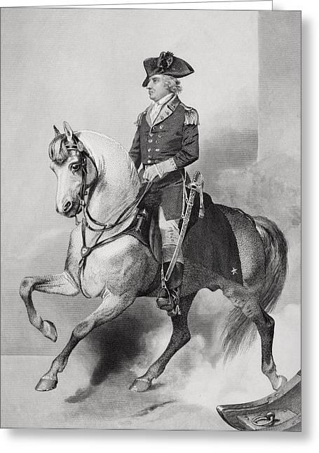 Horatio Gates 1728 - 1806. English-born Greeting Card by Vintage Design Pics