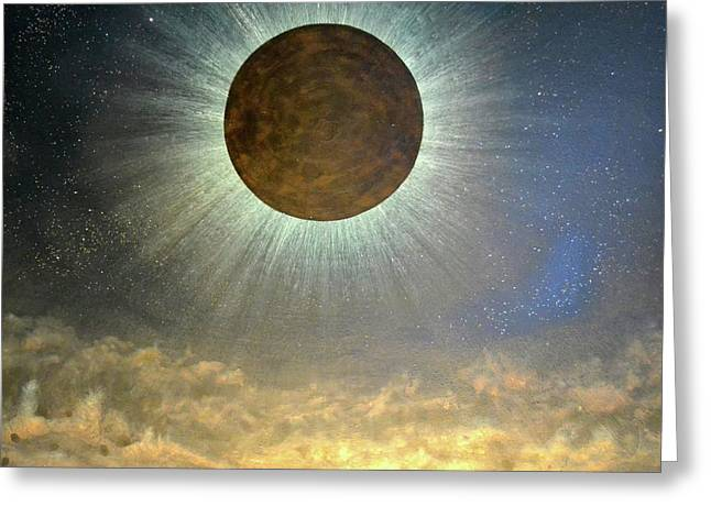 Solar Eclipse Paintings Greeting Cards - Hordes of the lunar eclipse Greeting Card by Drew Spence