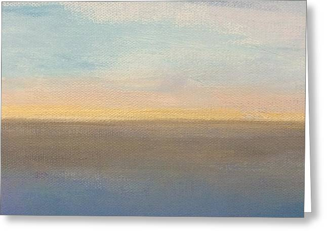 Greeting Card featuring the painting Horizon Aglow by Kim Nelson