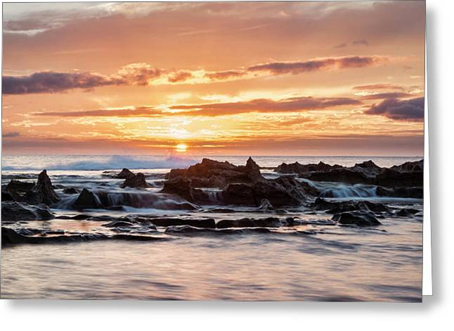 Horizon In Paradise Greeting Card by Heather Applegate