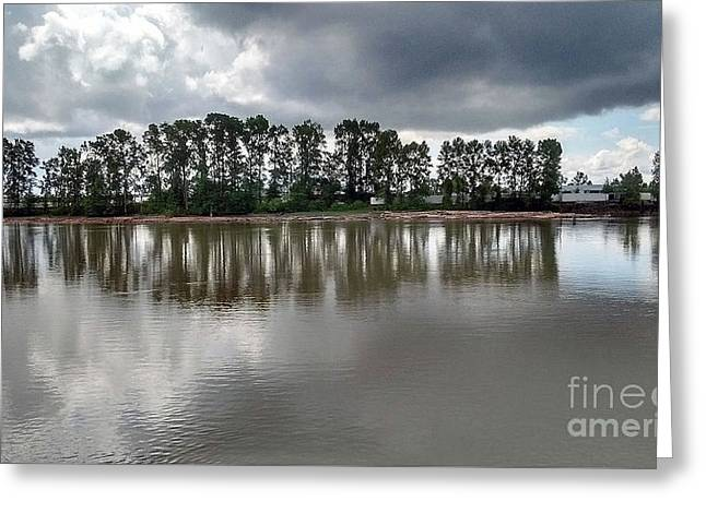 Greeting Card featuring the photograph Horizon Line by Bill Thomson