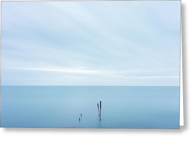 Greeting Card featuring the photograph Horizon by Mirko Chessari
