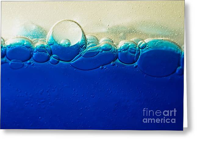 Horizon Of Bubbles By Kaye Menner Greeting Card