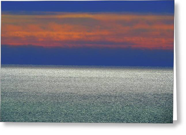 Horizontal Sunset Greeting Card