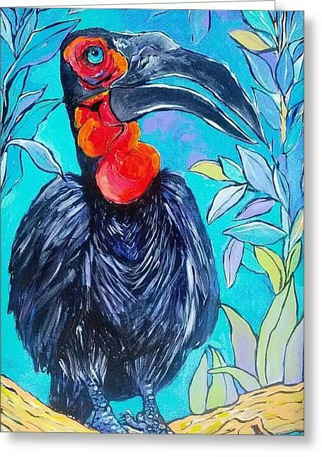 Hornbill  Greeting Card by Arrin Burgand