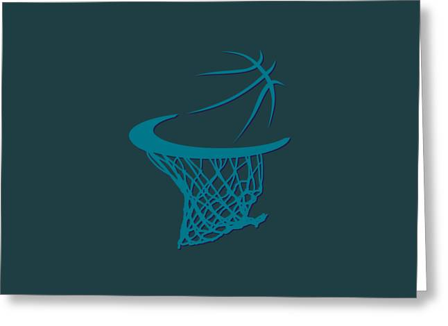 Hornets Basketball Hoop Greeting Card by Joe Hamilton