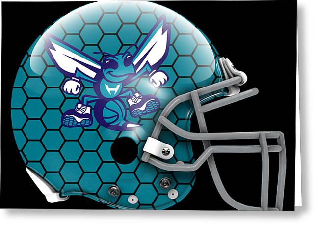Hornets What If Its Football Greeting Card by Joe Hamilton
