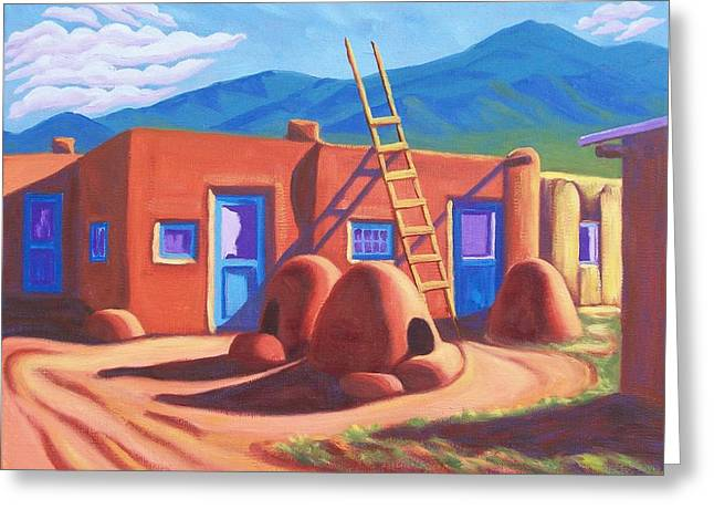 Horno De Pan Taos Greeting Card