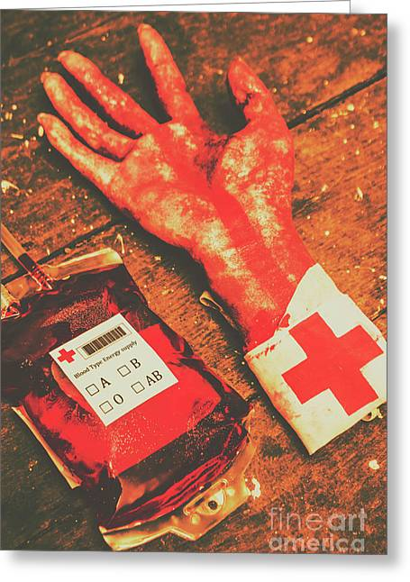 Horror Hospital Scenes Greeting Card by Jorgo Photography - Wall Art Gallery