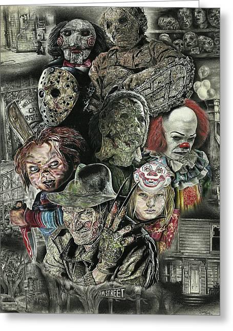 Horror Movie Murderers Greeting Card