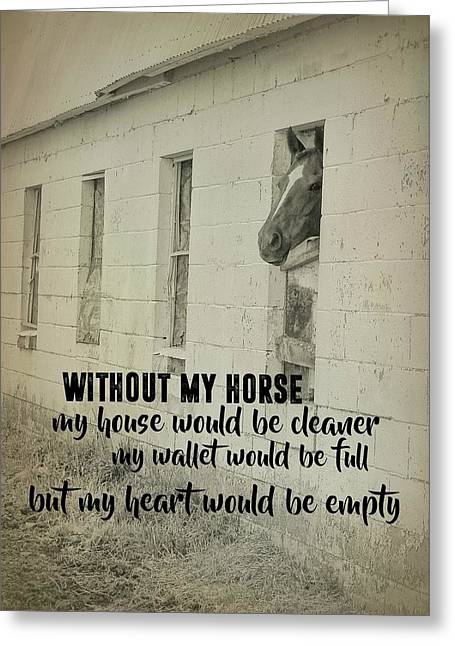 Horse And Heart Quote Greeting Card