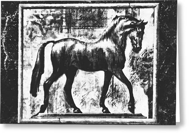 Greeting Card featuring the photograph Horse Artwork by Dressage Design