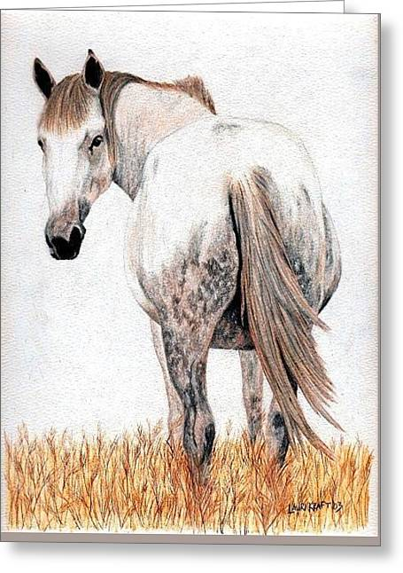 Horse Butt Greeting Card by Lauri Kraft