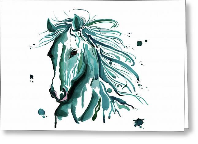 Horse Canvas Art  Greeting Card