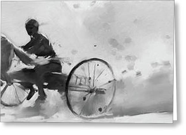 Horse Cart Greeting Card