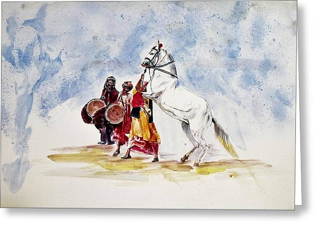 Horse Dance Greeting Card