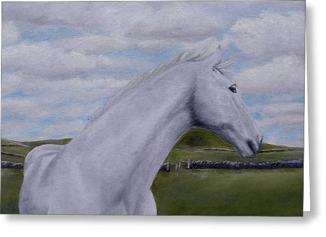 Greeting Card featuring the painting Horse by Diane Daigle
