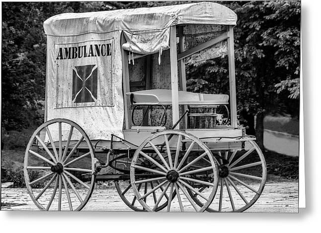 Horse Drawn Ambulance  Greeting Card by Ken Morris