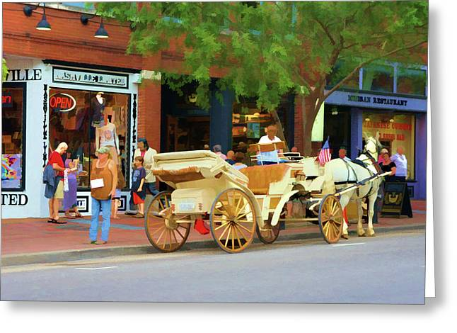 Horse-drawn Carriage In Nashville, Tennessee Greeting Card by Art Spectrum