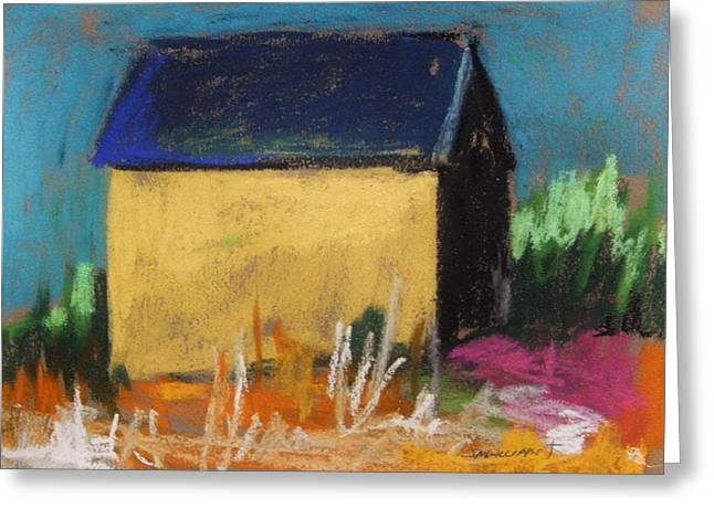 Unique Art Pastels Greeting Cards - Horse Farm Barn Greeting Card by John  Williams