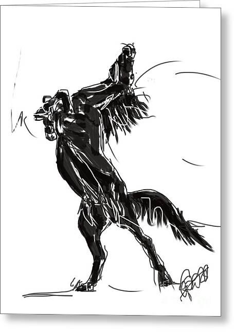 Horse Freedom Greeting Card by Go Van Kampen