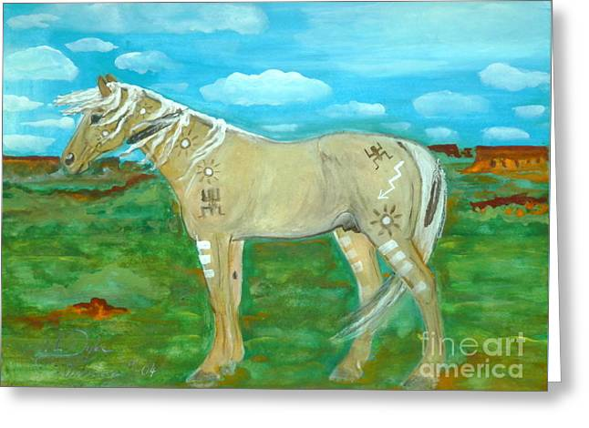 Horse From The Kid's Dreams Greeting Card