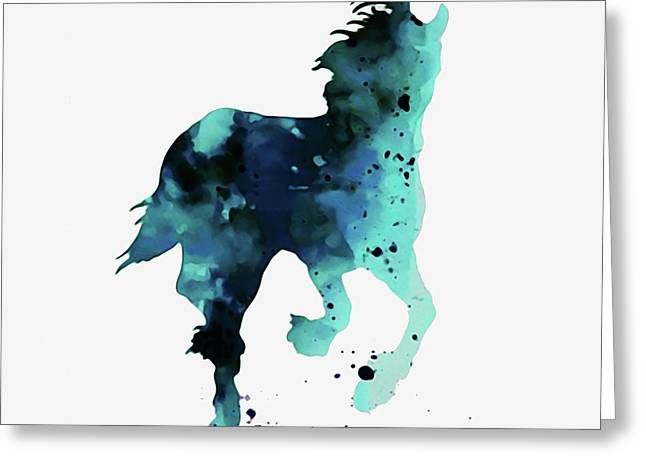 Horse In Blue Art  Greeting Card