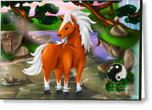 Horse In Chinese Zodiac Greeting Card