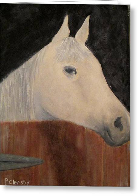 Horse In Stall Greeting Card