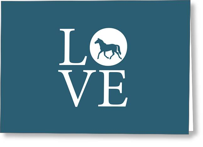 Horse Love Greeting Card by Nancy Ingersoll