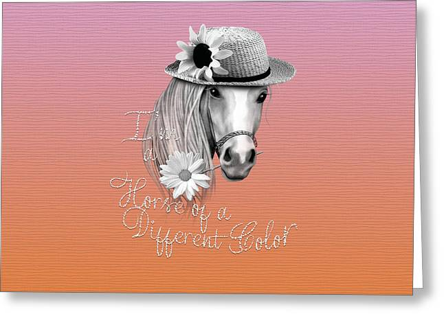 Horse Of A Different Color Greeting Card by Cindy Anderson