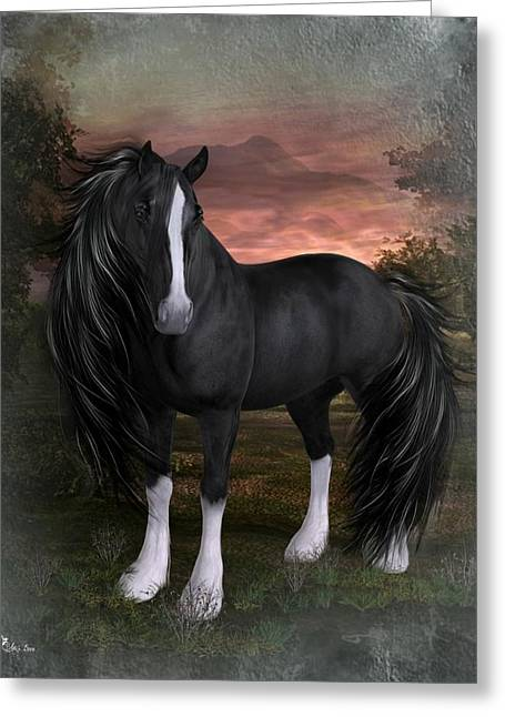 Horse Of Elegance Greeting Card by Ali Oppy
