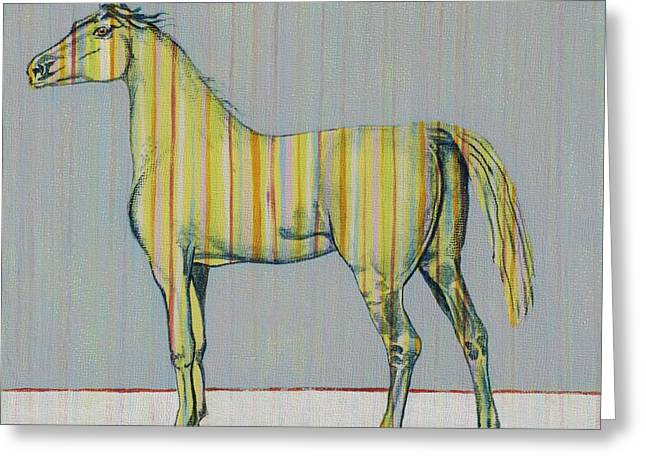 Horse Of Many Colors No. 2 Greeting Card by Christine Belt