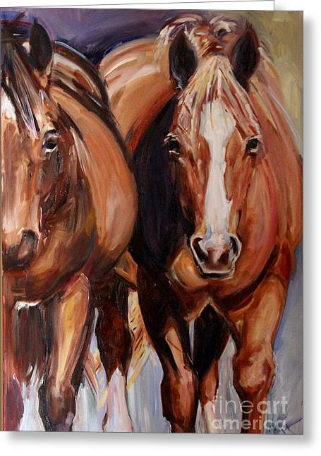 Horse Oil Painting Greeting Card