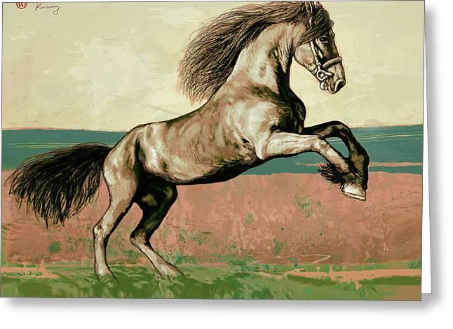 Horse Pop Art Poser Greeting Card