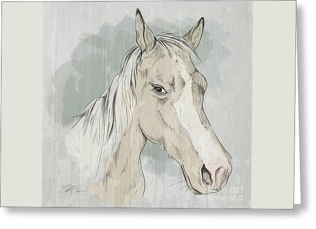 Horse Portrait-farm Animals Greeting Card