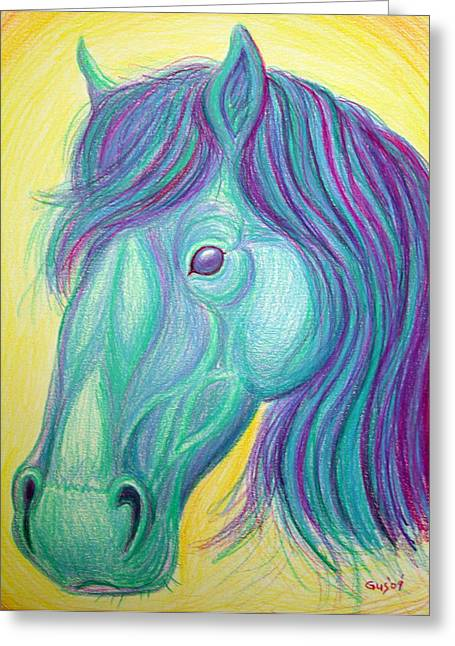 Horse Profile Greeting Card by Nick Gustafson