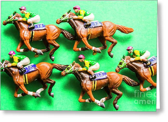 Horse Racing Carnival Greeting Card
