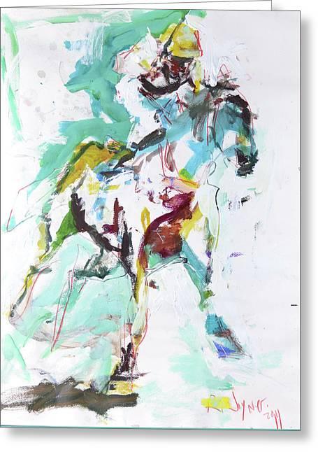 Horse Racing Painting Greeting Card